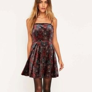 Urban Outfitters ecote XS Velvet Lace Up Dress